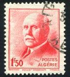 法警Petain阿尔及利亚打印的邮票 库存照片