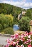 法语典型的村庄 库存图片