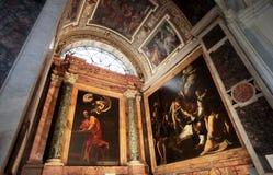法语的圣路易斯教会在罗马 免版税图库摄影