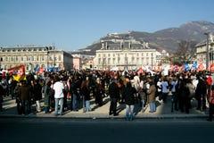 法语罢工工作者 库存图片