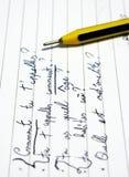 法语课 免版税图库摄影