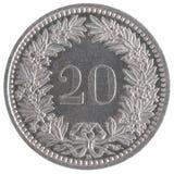 20法郎硬币 库存照片