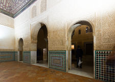 法院加州桂(Patio de los Arrayanes),阿尔罕布拉宫 格拉纳达 免版税库存图片