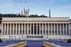 法院大楼在利昂 免版税库存照片