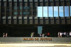 法院大楼在蒙特利尔,魁北克,加拿大 免版税库存图片