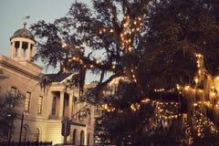法院大楼在街市Tallahassee 库存照片