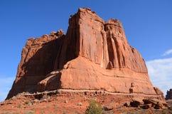 法院大楼塔在曲拱国家公园 库存图片