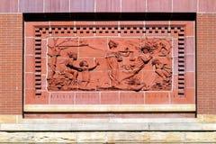 法院大楼壁画 免版税库存图片