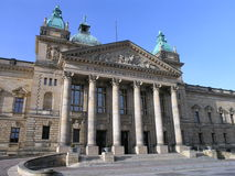 法院大楼莱比锡 免版税库存图片