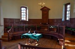 法院室,大街, Smithfield, VA 免版税库存照片