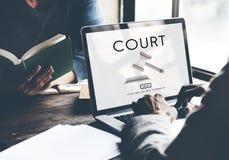 法院当局罪行法官法律法令概念 免版税库存照片