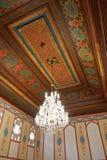 法院房间天花板在可汗的宫殿,克里米亚 库存照片
