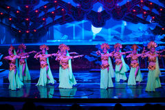 法院舞蹈家--历史样式歌曲和舞蹈戏曲不可思议的魔术-淦Po 免版税库存照片
