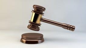 法院锤子法官正义法律律师 库存例证