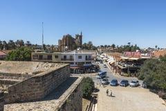 法马古斯塔Gazimagusa,塞浦路斯老镇  免版税库存图片
