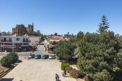 法马古斯塔Gazimagusa,塞浦路斯老镇  免版税库存照片