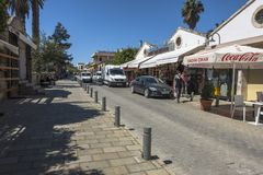 法马古斯塔Gazimagusa,塞浦路斯老镇  库存图片