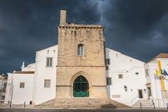 法鲁大教堂建筑细节在一个春日 免版税图库摄影