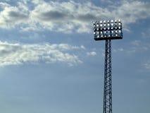 泛光灯体育场 免版税库存照片