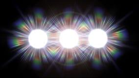 泛光灯闪光 循环 影视素材