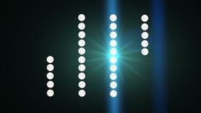 泛光灯闪光 循环 股票录像