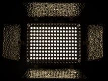 泛光灯,包括与色温的160个白色LEDs 5500K 库存图片