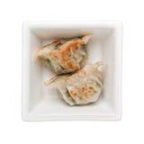 泛油煎的饺子 免版税库存照片