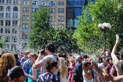 泡影争斗NYC 2015第4部分16 免版税库存图片
