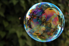 泡影五颜六色的彩虹 库存图片