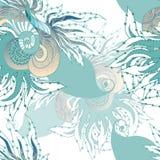 泡影复制鱼例证生活海运海草空间文本向量 免版税库存图片