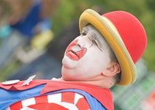 泡影小丑纵向 免版税库存照片