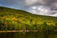 泡影池塘,阿科底亚国家公园的,缅因 免版税图库摄影