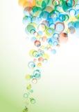 泡影浮动柔和的淡色彩 库存照片