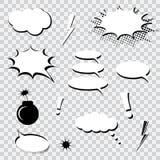 泡影漫画设置了演讲 免版税库存照片