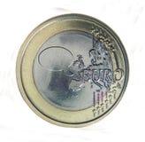 泡影硬币欧洲谈话 库存照片
