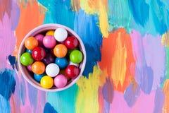 泡影胶粘的糖果 免版税库存图片
