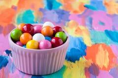 泡影胶粘的糖果 库存图片