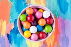 泡影胶粘的糖果 图库摄影