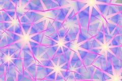 泡影设计紫色星形 免版税库存照片