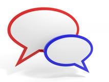 泡影谈话。社会媒介概念。 免版税图库摄影