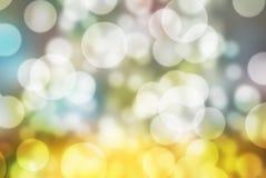 泡影bokeh被弄脏的五颜六色的背景 免版税库存图片