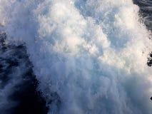 泡沫似的爱奥尼亚海希腊 免版税库存照片