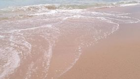 泡沫似的水和沙子 股票视频