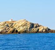 泡沫和泡沫从小船海岛的希腊地中海se的 免版税图库摄影