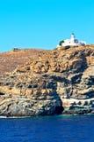 泡沫和泡沫从海岛的希腊 免版税库存图片