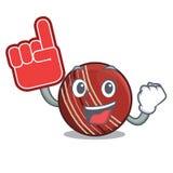 泡沫手指在字符专栏的板球 向量例证