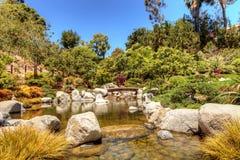 巴波亚公园的平静的日本友谊庭院在圣二 图库摄影