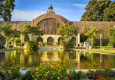 巴波亚公园,圣地亚哥,植物的大厦 库存照片