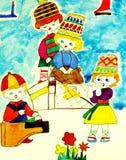 波儿地克的儿童海运 库存图片