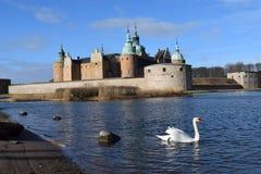 波儿地克的天鹅槽孔卡尔马瑞典 免版税库存照片